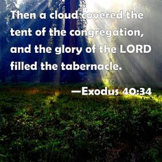 Exodus 40:34  Lord, my desire is that you gain fill me with your glory as you did for the Israelites.