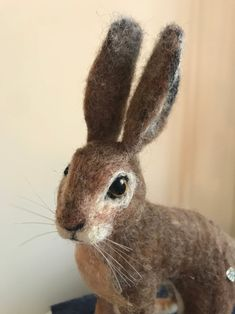 Your place to buy and sell all things handmade Needle Felted Animals, Felt Animals, Needle Felting, Jack Rabbit, Light Covers, Natural Brown, Make Time, Original Art, Sculpture