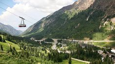 Today's Daily Escape is from the Snowbird Aerial Tram Ride in Salt Lake City, UT.