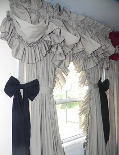 Great edition to new homes Custom Made Curtains, Country Curtains, How To Make Curtains, Ruffles, New Homes, Ideas, Home Decor, Decoration Home, How To Sew Curtains