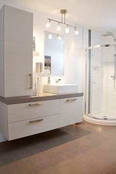 Bathroom Remodel Meme narrow cabinet for ironing board and shelf overhead for iron