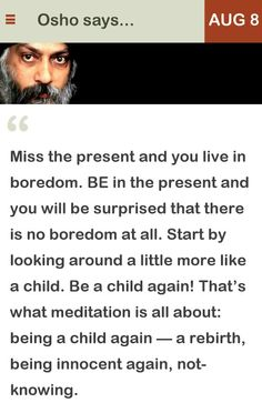 Osho - Be a child again...