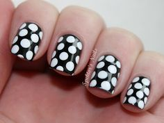 simple large B&W polka dots