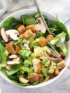 Winter Green Salad with Orange Honey Mustard Vinaigrette - foodiecrush Healthy Food Options, Healthy Salads, Healthy Eating, Healthy Recipes, Winter Salad Recipes, Honey Mustard Vinaigrette, Salad Sauce, Orange Salad, Spinach Recipes