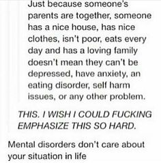 This is so important. I couldn't understand why I was depressed. I still don't know but it's work trying to fix it all.