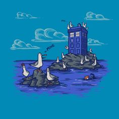 Seagulls Have the Phone Box T-Shirt $12 Finding Nemo tee at Companion Tees!
