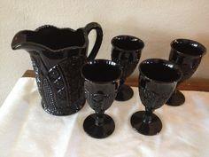Love my set of Black Milk Glass.