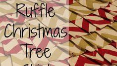 No Sew Ruffle Christmas Tree Skirt