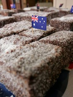 Australian Icon: Lamingtons If you found Vegemite a bit challenging, you will love the delicious Lamington! #welcometoUSQ #nomnom #getinmabelly