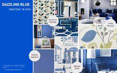 Pantone Spring 2014 interior decor inspiration Dazzling Blue.  This vibrant blue evokes the glistening waves of Lake Michigan.