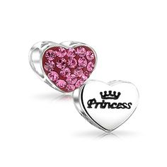Purchase Pink Crystal Princess Word Heart Charm Bead For Women For Teen 925 Sterling Silver Fits European Charm Bracelet from Bling Jewelry Inc on OpenSky. Share and compare all Jewelry. Pink Jewelry, Heart Jewelry, Beaded Jewelry, Crystal Beads, Swarovski Crystals, Silver Charms, 925 Silver, Sterling Silver, Sterling Jewelry