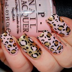 leopard print with pink and gold