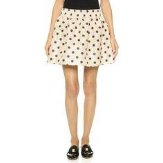 RED Valentino Polka Dot Pouf Skirt ($390) ❤ liked on Polyvore featuring skirts, red valentino skirt, red valentino, dot skirt, elastic waist skirt and polka dot skirt