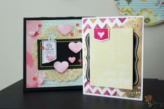 valentine cards by Mandy Kay Starner using the Cocoa Daisy February kit, Color Swatch, available Feb 1 at midnight ET. Get our well-curated kit for $32.95 + S&H here: www.cocoadaisy.com #cocoadaisy #scrapbooking #kitclub #cards #valentine #happyvalentinesday #youaresoloved #hearts #sequins