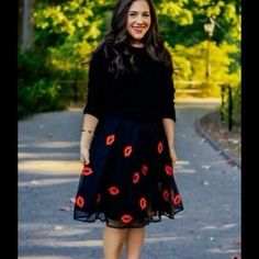 I just discovered this while shopping on Poshmark: Black printed tulle skirt. Check it out!  Size: 3X