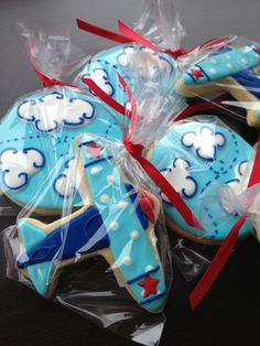 Airplane Decorated Sugar cookies 1 dozen by LaPetiteCookie on Etsy
