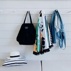 Grab your seaside essentials and hit the sea! Shop the Palm Springs Roundie and Adventure tote at thebeachpeople.com.au/shop #thebeachpeople