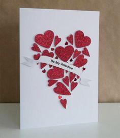 идея для открытки своими руками на день святого валентина, на 14 февраля, идея подарка