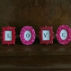 "Creative-gift-giver: Quick and simple heart-themed gift # 2:  ""Love"" Frames"
