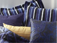 Blue throw pillow inspiration from the CORT Signature Collection 2013