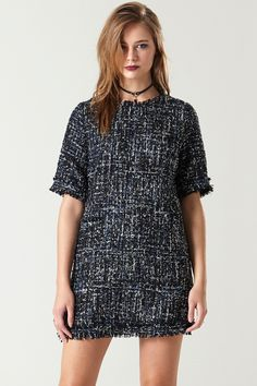 Luxe Sequin Tweed Coco Dress - Dresses - Clothing Discover the latest fashion trends online at storets.com