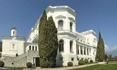 Livadia Palace in the Crimea.  Tsar Nicholas and family loved to spend time here because the climate was mild and the area so lovely.