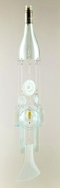 """Aluminum and glass, this ice-inspired smaller wind chime measures 5"""" x 30"""". Free shipping. The icy colors will add a cool accent to a spring garden and will add sparkle to your landscape year-round. S"""