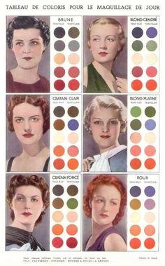 1930's makeup, almost vintage tone