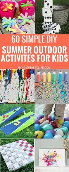 With these 60Summer Outdoor Activities for Kids, you will have something lined up all summer long. Get ready for the summer of a lifetime! #summertime #outdooractivities #unplugged #kids #wateractivities #yardgames #myhomebasedlife | Fun Yard Games | Summertime Fun | Summer Games | Outdoor Activities for Kids | Easy DIY yard Games | Easy DIY Water Activities | Family Summer Fun |  via Marissa | My Home Based Life