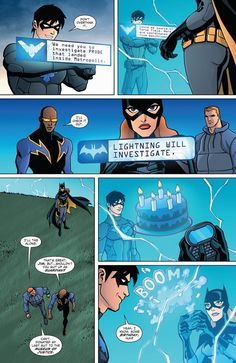 Young Justice Nightwing, Batgirl Black Lightning and Guardian.
