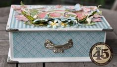 This Botanical Tea Book Box by Susan is just perfect for spring! #graphic45 #alteredart