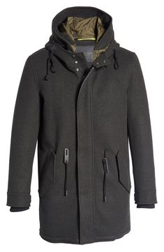 Hooded Parka, Nordstrom Store, Black People, Large Black, Drawstring Waist, Cole Haan, Raincoat, Parka Style, Men