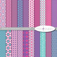 Digital Scrapbook Paper Pack.