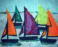 Sailboat Commission, 36 x 54, by Maggie Dillon