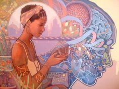 Meet Eight New Afrofuturism Artists Creating a Future of Color - art by Joshua Mays Art And Illustration, Black Women Art, Black Art, Fantasy Kunst, Fantasy Art, Caricatures, Afro Art, African American Art, Visionary Art
