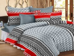 Charmant 100% Cotton Abstract Printed Bedsheet Double Size Www.rwsummerimports.com