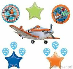 Planes Green Blue Orange Theme