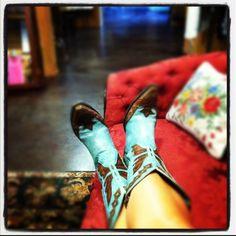 Cowboy Boots at RiverTrail Mercantile! Old Gringo Monarca Aqua Teal!