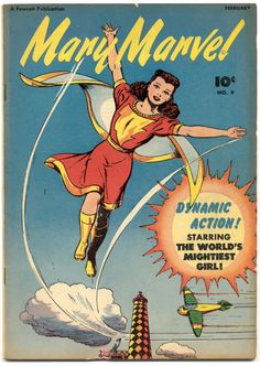 Mary Marvel n°9, February 1947, cover by Jack Binder.