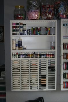 this is custom made but its a great idea to organize your inkpads and ink bottles
