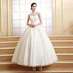 Ball Gown Wedding Dress Chapel Train Scoop Tulle with 2016 - $139.99