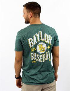 Cheer on your Baylor University Bears baseball team with this Barefoot original t-shirt
