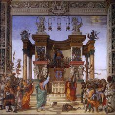 """Filippino Lippi (1457-1504), """"Saint Philip banishing the daemon from Mars's temple/San Filippo che scaccia il demonio dal tempio di Marte"""" (1487-1502), Fresco, Cappella Strozzi, Basilica di Santa Maria Novella, Firenze"""