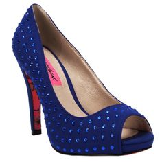 Betsey Johnson Carrrie Peep Toe Rhinestone Pump #VonMaur