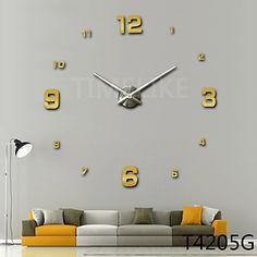 Relógio de parede - Moderno/Contemporâneo - Inovador - DE Acrilico/Metal de…