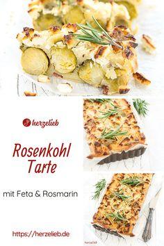 Rosenkohl Rezepte, Auflauf Rezepte: Rosenkohl Tarte Rezept von herzelieb. Herzafte Tarte mit Feta und Rosmarin. Ein Rosenkohl Auflauf, der schnell und einfach gemacht ist und super schmeckt Wer Rosenkohl mag, der wird diese Rosenkohl Tarte mit Käse und Kräutern. Ein echtes Winter Rezept. #herzelieb