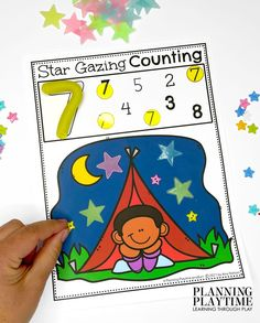 Count the Number of Stars in the night sky. - Pre-k Camping Worksheets
