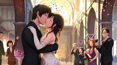 Animator : Shinkai Makoto, Kimi no na wa, Your name, หลับตาฝัน ถึงชื่อเธอ, Fanart, Wedding, Taki X Mizuha