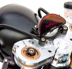 Motogadget and custom headlight bracket