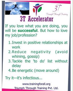 #3t_accelerator of today is on success in life. #triumphthroughtraining
